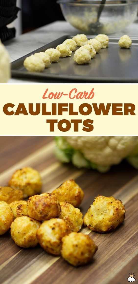 Low Carb Cauliflower Tots  10Recipes10   10Recipes10 is part of No carb diets -