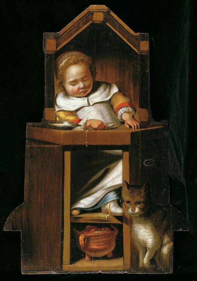 Cornelis Bisschop. Niño dormido. 1607