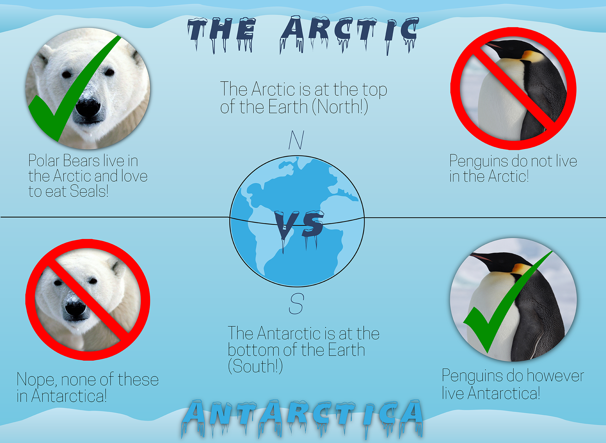 Arctic Vs Antarctic