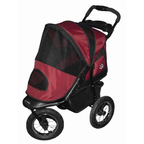 Pet Gear Jogger Pet Stroller for Cats and Dogs, Burgundy -- Details can be found by clicking on the image.