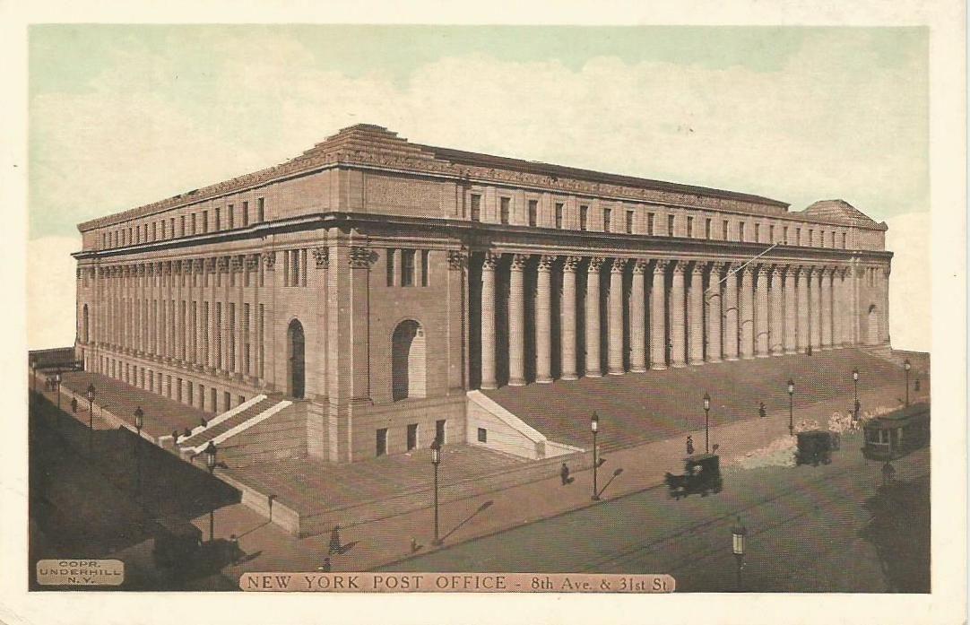 New York Post Office Newyork Postoffice Vintagepostcards Tarjetaspostalesantiguas New York City New York Post City