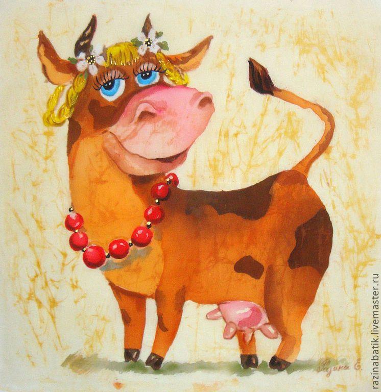 что милые быки рисунки весенней женщины обаятельной