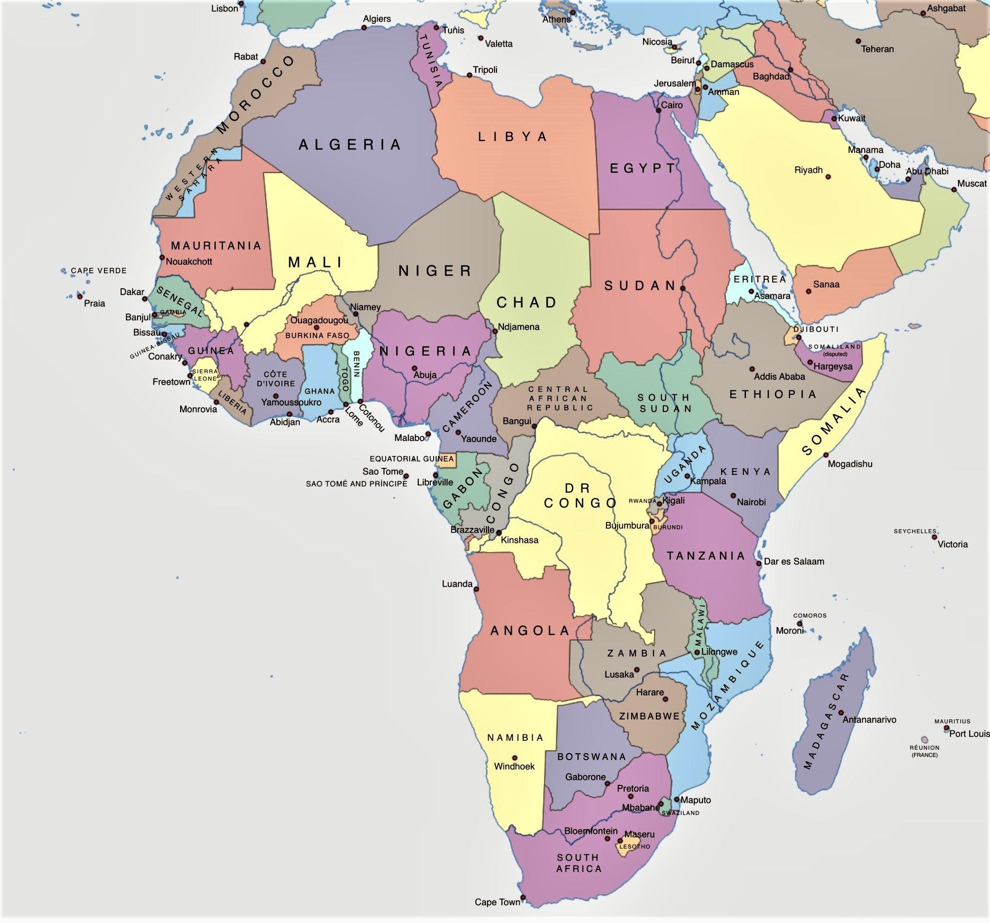 Mapa Politico De Africa Buscar Con Google Africa Mapa Mapa