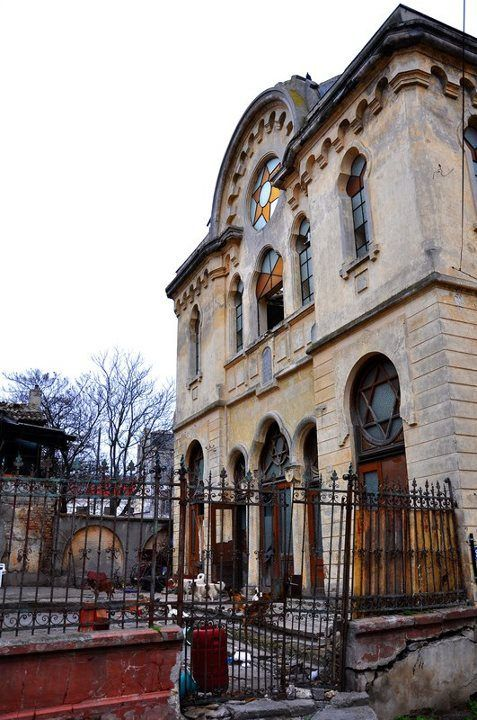 The abandoned Grand Synagogue of Constanta, Romania celebrated 103 years of existence in 2014 but the celebration was silently ignored.The temple is no longer functional and is in desperate need of restoration. Situated along the Black Sea, it was built in 1911 in a Moorish, Neo-gothic style. http://theowlromania.wordpress.com/2013/03/