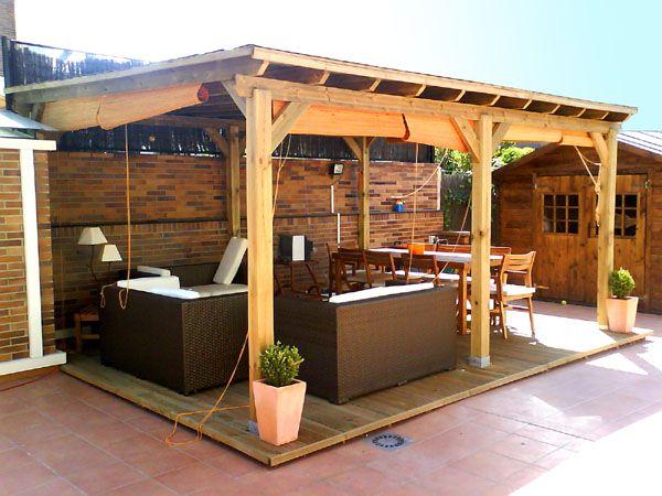 Toldos p rgolas y canalones p rgolas cenadores y de - Toldos para patios exteriores ...