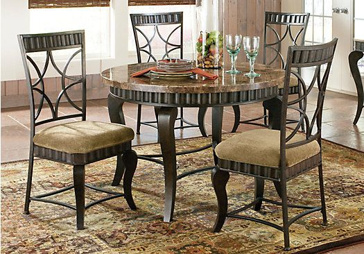 Shop For A Spring Valley 5 Pc Dining Room At Rooms To Go Find Dining Room Sets That Will Marble Top Dining Table Metal Dining Table Dining Room Table Marble