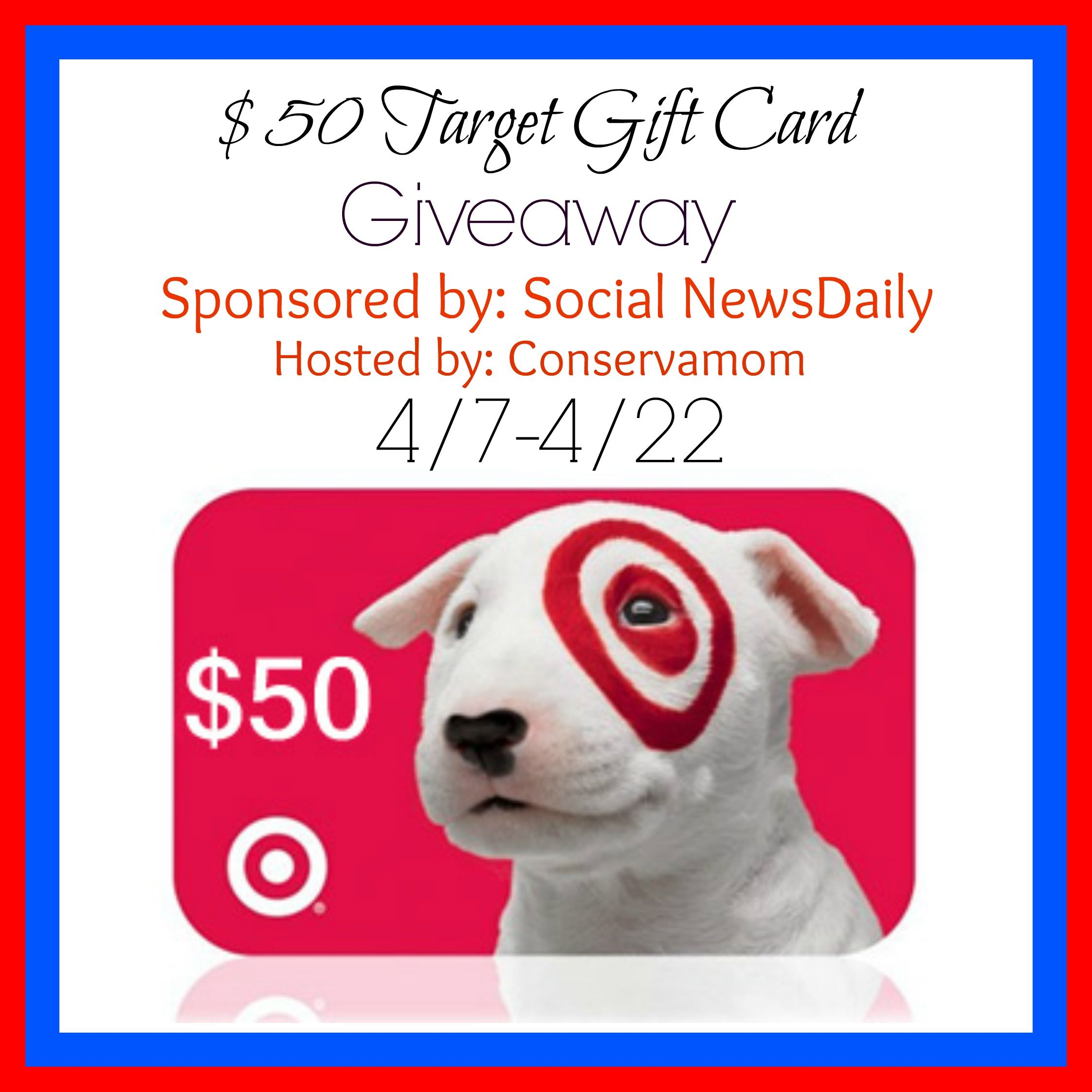 Target $50 Gift Card Giveaway Thanks to Social News Daily you can ...