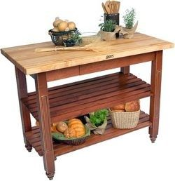 Kitchen Butchers Block With Drawers : John Boos Kindred Kitchen Island with 2 Shelves, 24'' Deep, 36