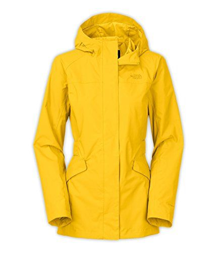 North face women's rain jacket yellow