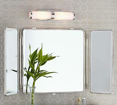 Vintage Tri Fold Mirror Mirror Pottery Barn Bathroom Home