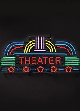 Create an exciting and lively entrance to your theater room with the Theater Neon Sign that's crafted from hand-blown neon tubing and is the perfect gift for the movie buff in your life.
