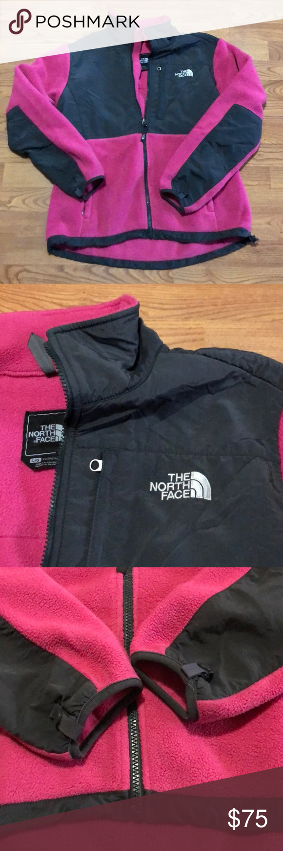 Northface Pink And Grey Denali Jacket Large The North Face Soft Shell Jacket Jackets [ 1740 x 580 Pixel ]