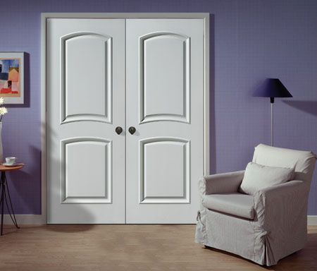 Awesome Louvered Double Closet Doors | Double Doors. Set Of 2 Panel, Arched Top.  These Are Probably Made From .
