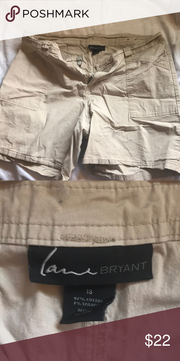9e13c9c26b7ac Size 18 lane Bryant khaki woman s shorts Size 18 lane Bryant khaki woman s  shorts Lane Bryant