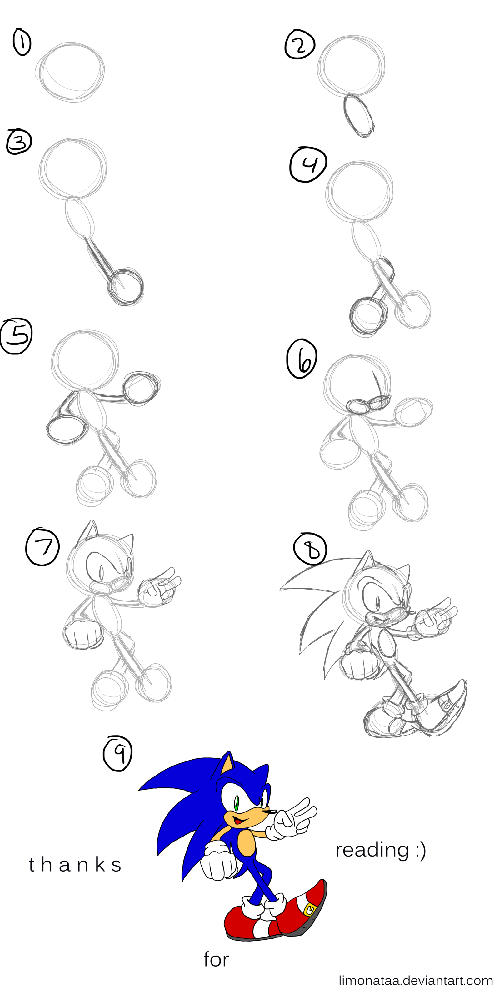 Sonic Pictures To Draw How To Draw Video Tutorial Step By Step