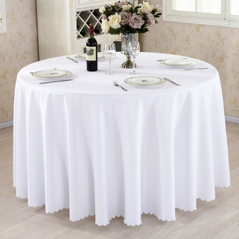 Cheap Tablecloths Buy Directly From China Suppliers Round Tablecloth Camping Solid Color Table Cloth White Table
