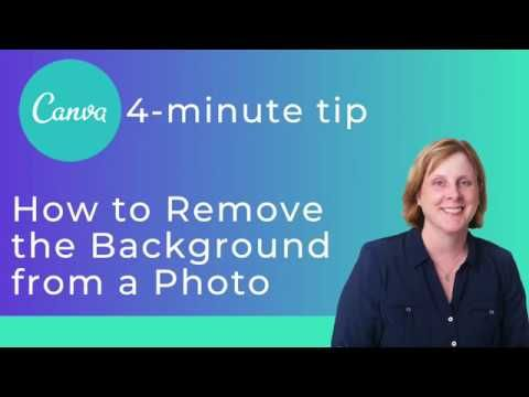 How to Remove the Background of a Photo Using Canva in