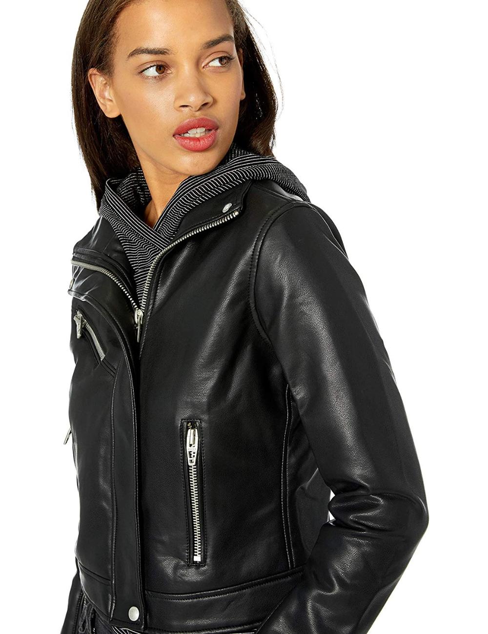 Blanknyc Women S Vegan Leather Faux Leather Jacket Women Leather Jackets Women Collarless Leather Jacket [ 1299 x 1000 Pixel ]