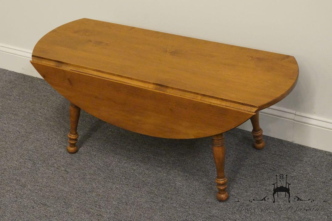High End Used Furniture Sprague Carleton Solid Maple 38 Drop