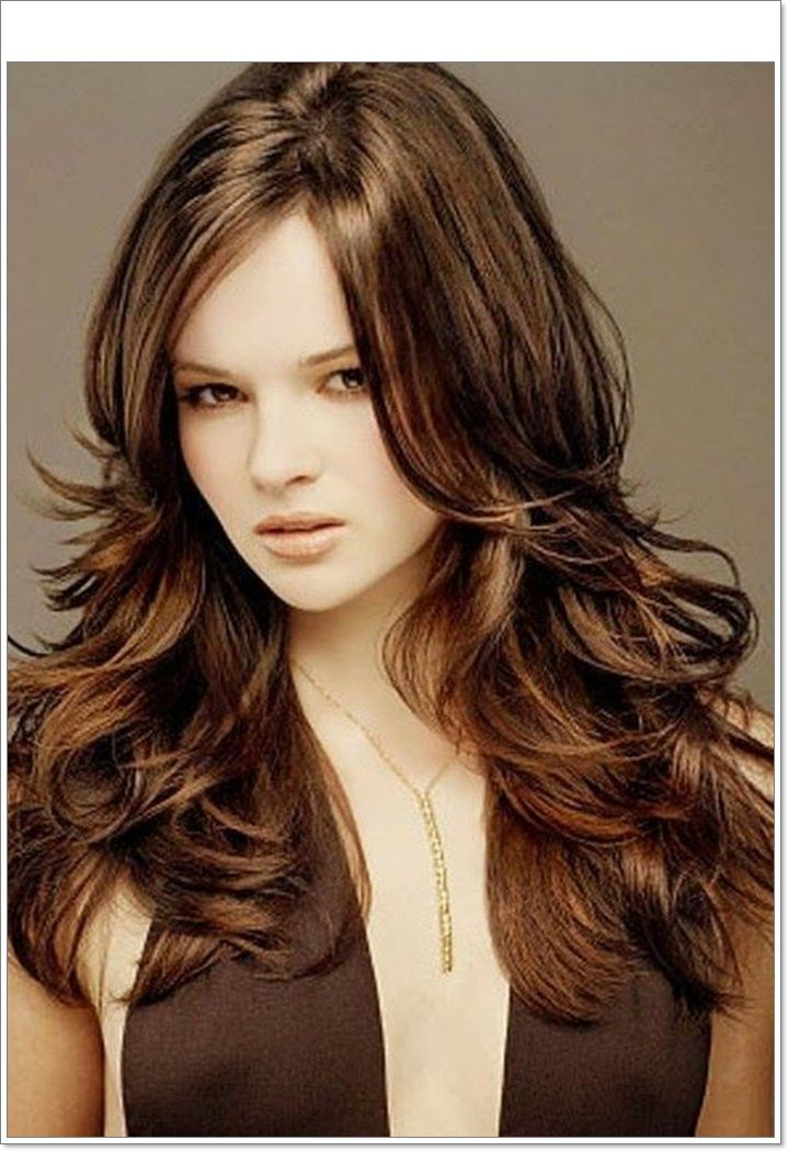 Layered Hairstyles | Long Layered Haircuts For Round Faces Thick ...