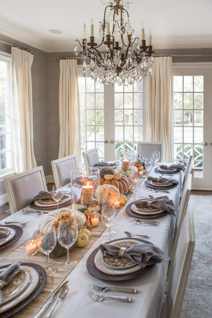 Easy and Elegant Thanksgiving Tablescape | Thanksgiving Table Decor #thanksgivingdinnertable