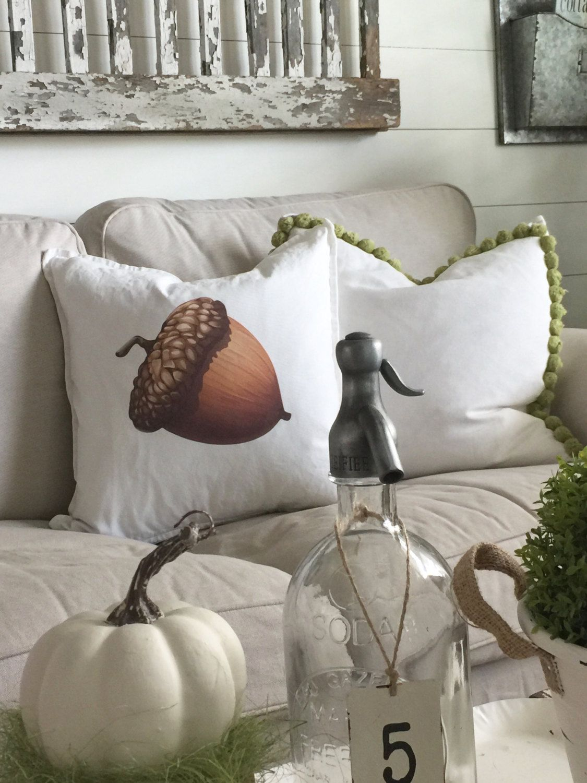 Acorn Pillow Cover | Autumn Pillows | Fall Decor | Farmhouse Fall ...