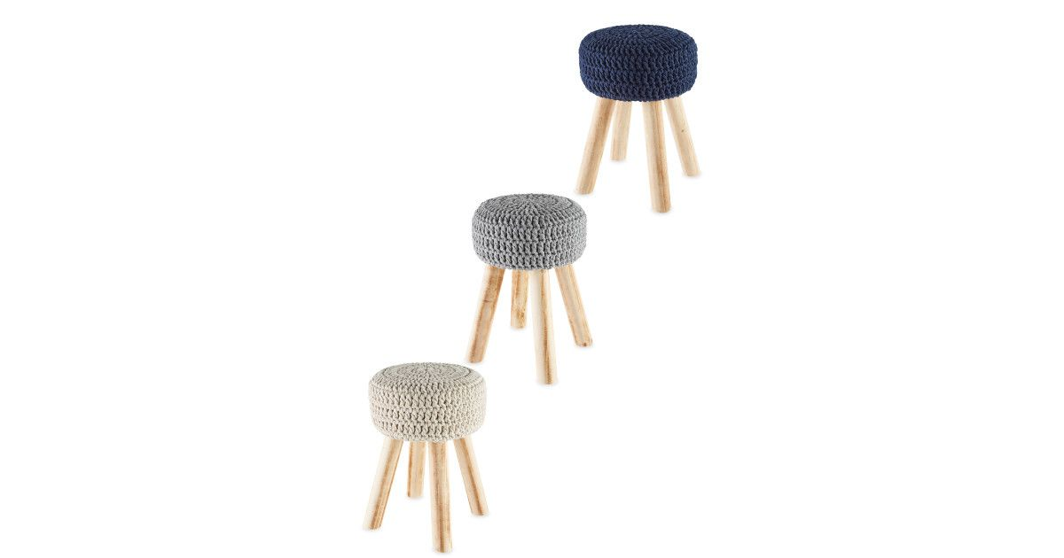 Pleasing Crochet Top Stool In 2019 Crochet Top Crochet Wooden Stools Short Links Chair Design For Home Short Linksinfo