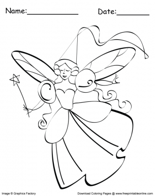 Fairy With Wand Coloring Sheet Princess Coloring Pages Coloring Pages For Teenagers Coloring Pages