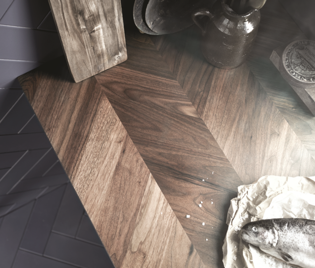 1 Barkaboda Wooden Herringbone Countertop Wood Countertops