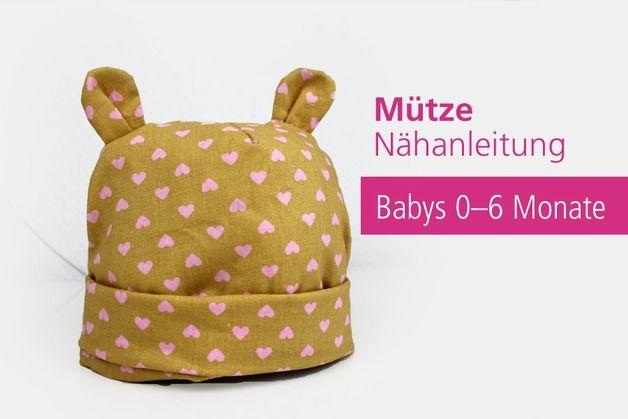 Pdf Baby Mutze Ohren Babymutze Nahanleitung Beanie Nahen Furs Baby Baby Und Nahen Baby