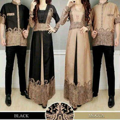 Baju Batik COUPLE Terbaru Trend Baju Batik Pasangan Muslim