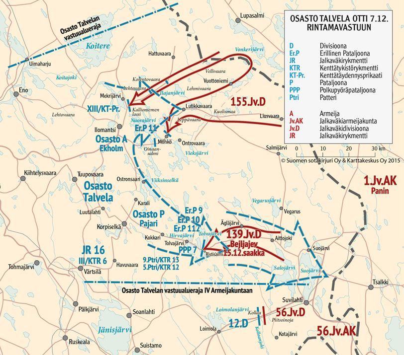 Tolvajarven Voitto Talvisodan Tietokeskus Kartta Armeija Akita