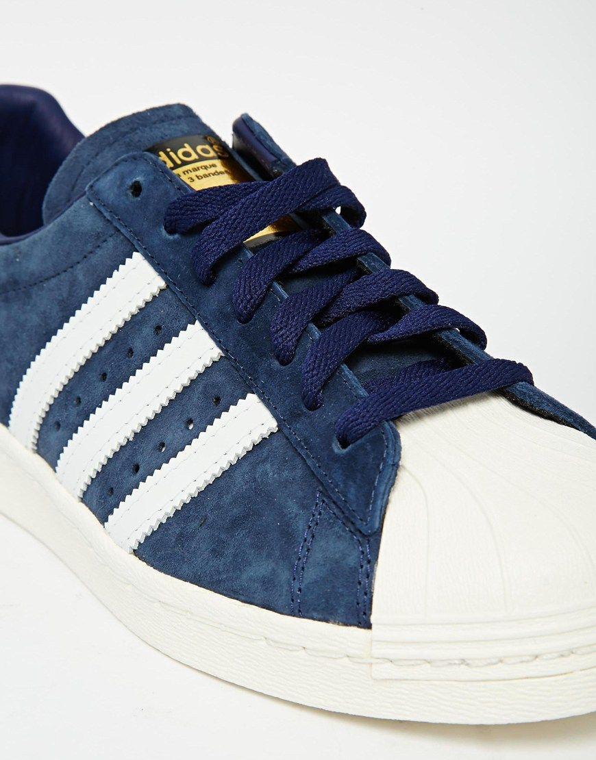 adidas originals superstar bleu