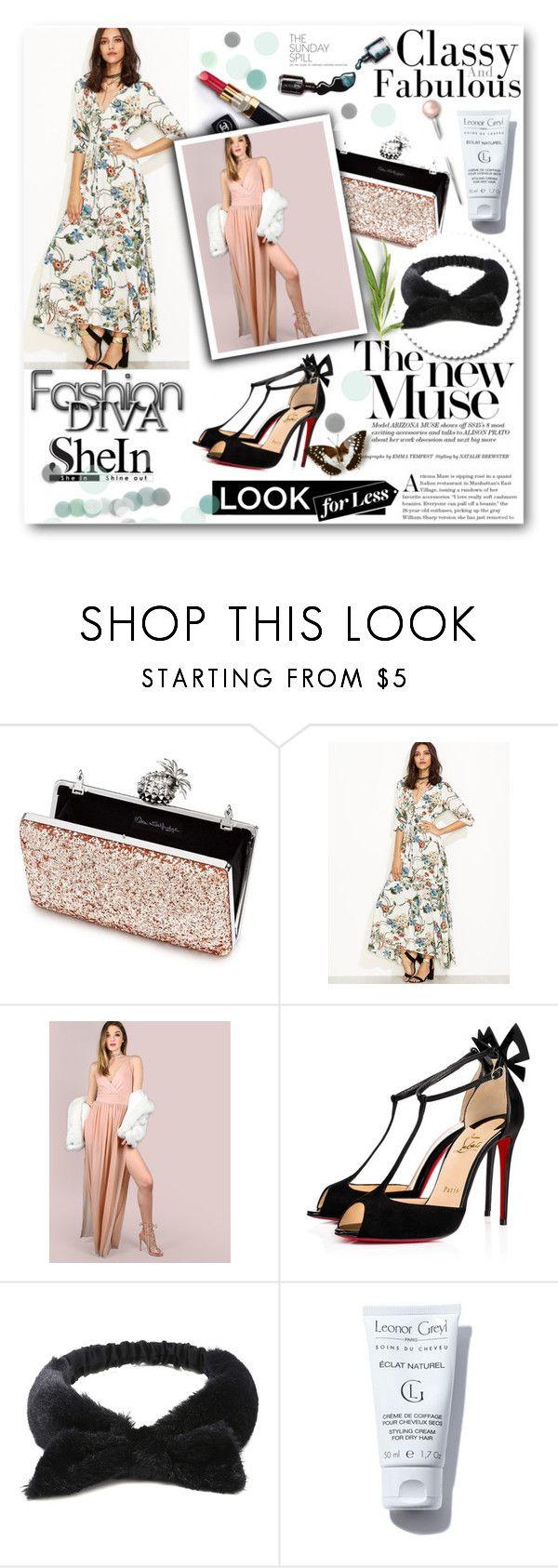 """Shein 7/ II"" by ajisa-ikanovic ❤ liked on Polyvore featuring Miss Selfridge, Christian Louboutin, Chanel and Dolce&Gabbana"