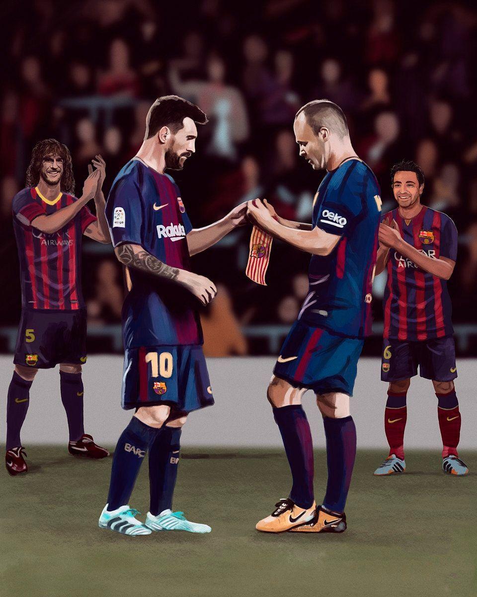 Carles Puyol Lionel Messi Andres Iniesta Xavi Puyol Carlespuyol Carlespuyol5 Messi Leomessi Iniesta Xa Jogadores De Futebol Caras Do Futebol Futebol