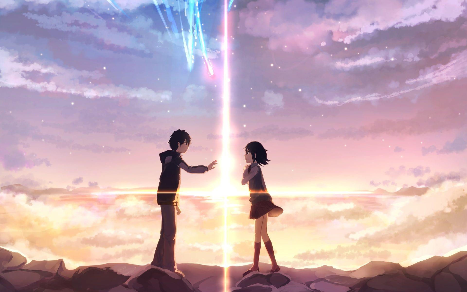 Tachibana Taki Anime Miyamizu Mitsuha Kimi No Na Wa 1080p Wallpaper Hdwallpaper Desktop In 2020 Your Name Anime Kimi No Na Wa Wallpaper Kimi No Na Wa