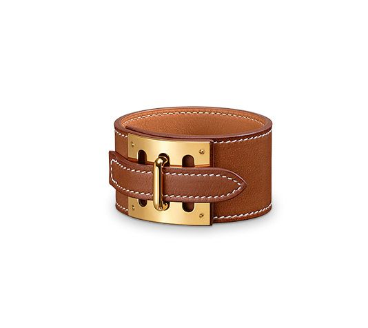 Intense Hermes Leather Bracelet Size L