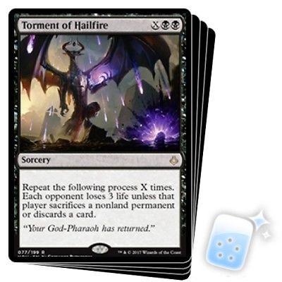 Torment of Hailfire ~~~ Hour of Devastation ~~~ Magic The Gathering ~~ NEAR MINT
