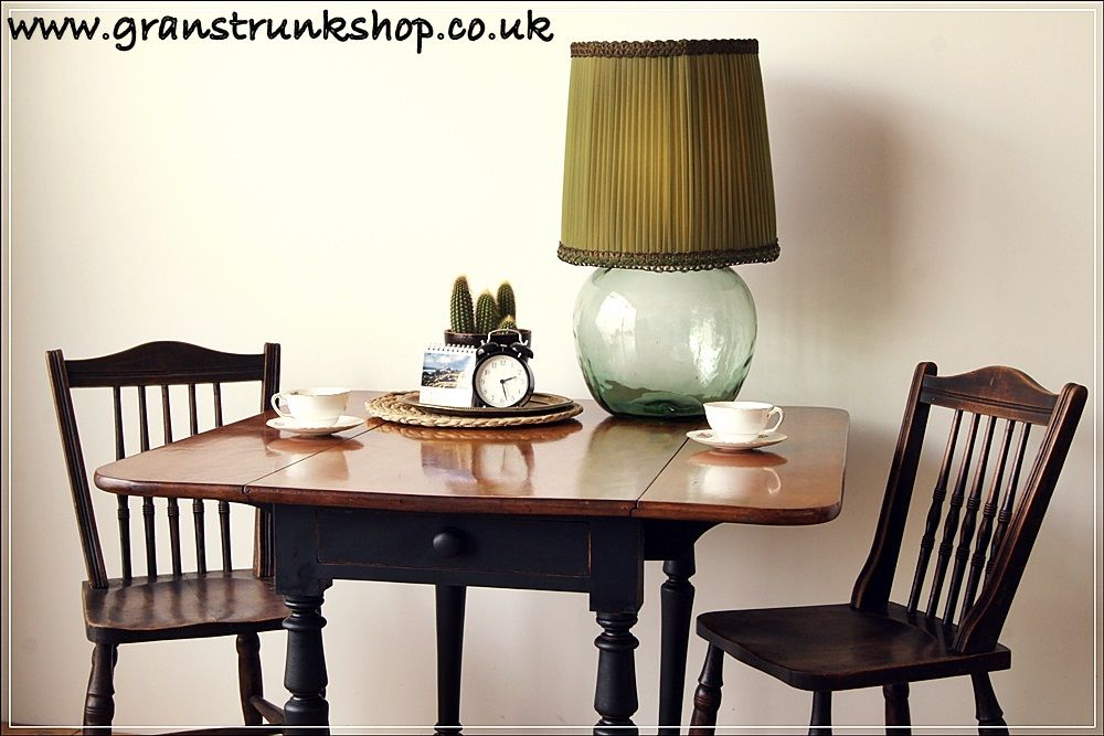 Best Painted Pitch Black Farrow And Ball Drop Leaf Table 640 x 480