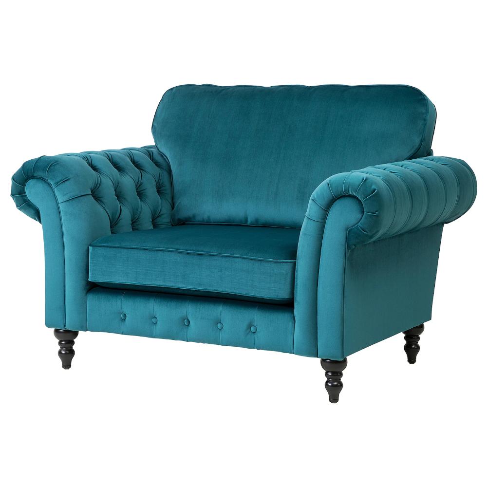 GREVIE Armchair velvet blue in 2020 Armchair, Velvet