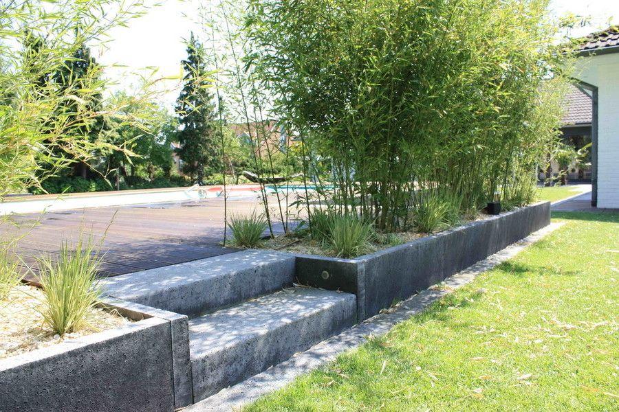 Richter Garten, Gartenarchitektur - Swimmingpool mit Loungebereich - gartenarchitektur