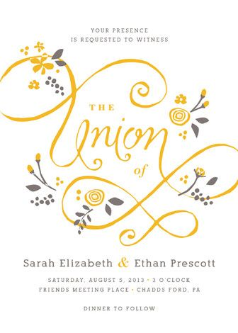 A More Perfect Union Letterpress Wedding Invitations Wedding - fresh invitation meeting