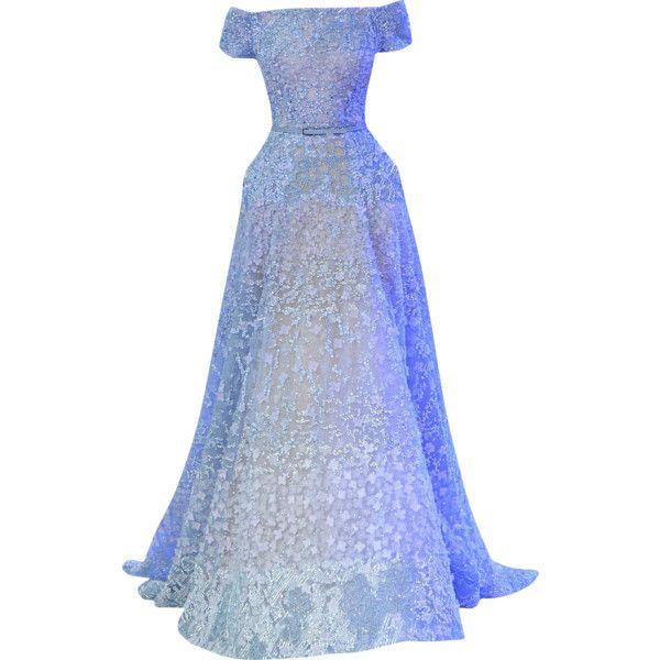 Elie Saab - edited by mlleemilee ❤ liked on Polyvore featuring dresses, gowns, long dresses, elie saab, vestidos, long blue dress, blue ball gown, elie saab dresses and blue evening gown