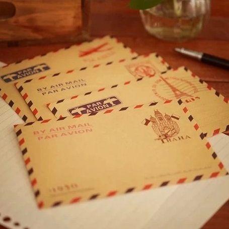 2 bolsas/lote ( 40 unidades ) Mini Retro Vintage papel sobre de la moda linda de Kawaii corea papelería mayorista envío gratis 713(China (Mainland))