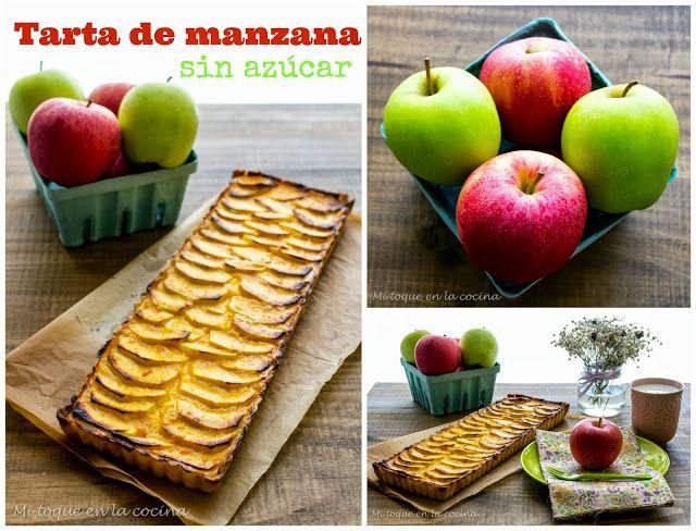 Mi toque en la cocina: Tarta de manzana sin azúcar.