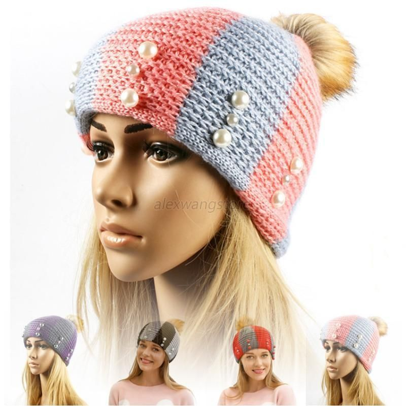 6d91889d2608e Stylish Womens Ladies Autumn Winter Knitted Wool Cap Outdoor Warm Knitted  Hat