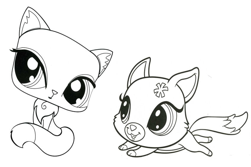 Littlest Pet Shop Coloring Pages Of Animals To Print Now Little