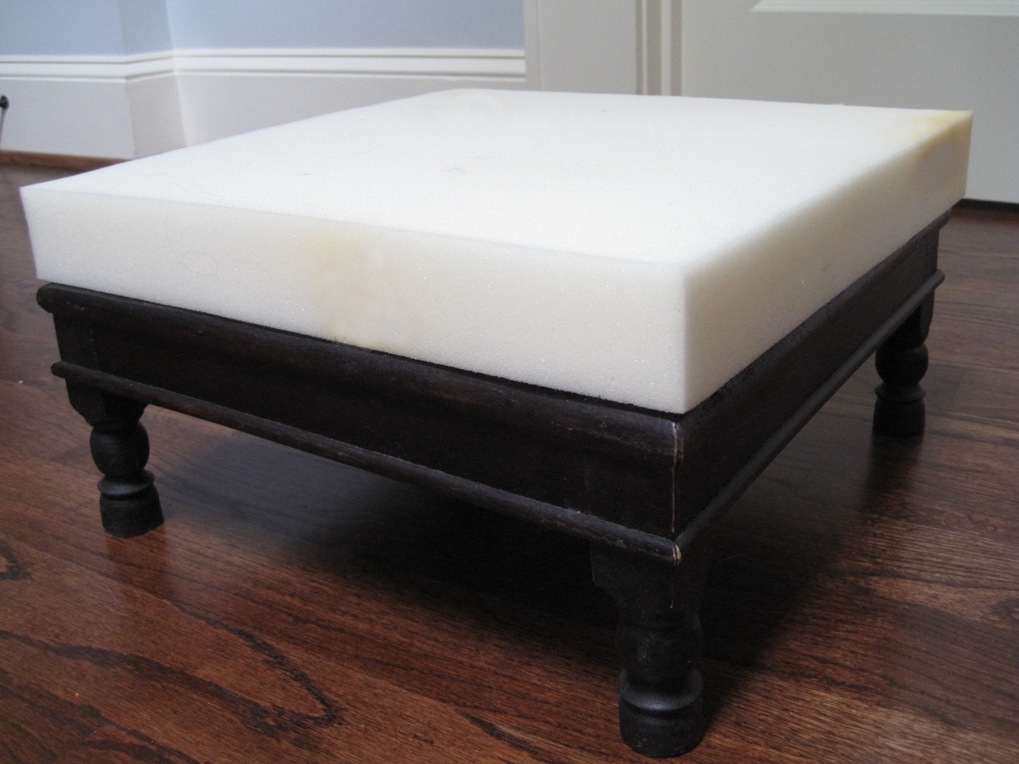 Pleasing Upholstery Foam Professional 4 X 46 X 46 Foot Stool Theyellowbook Wood Chair Design Ideas Theyellowbookinfo