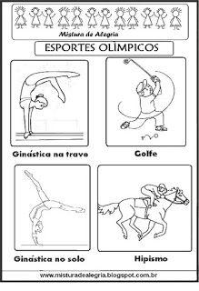 esportes olímpicos para colorir olympic worksheet pinterest