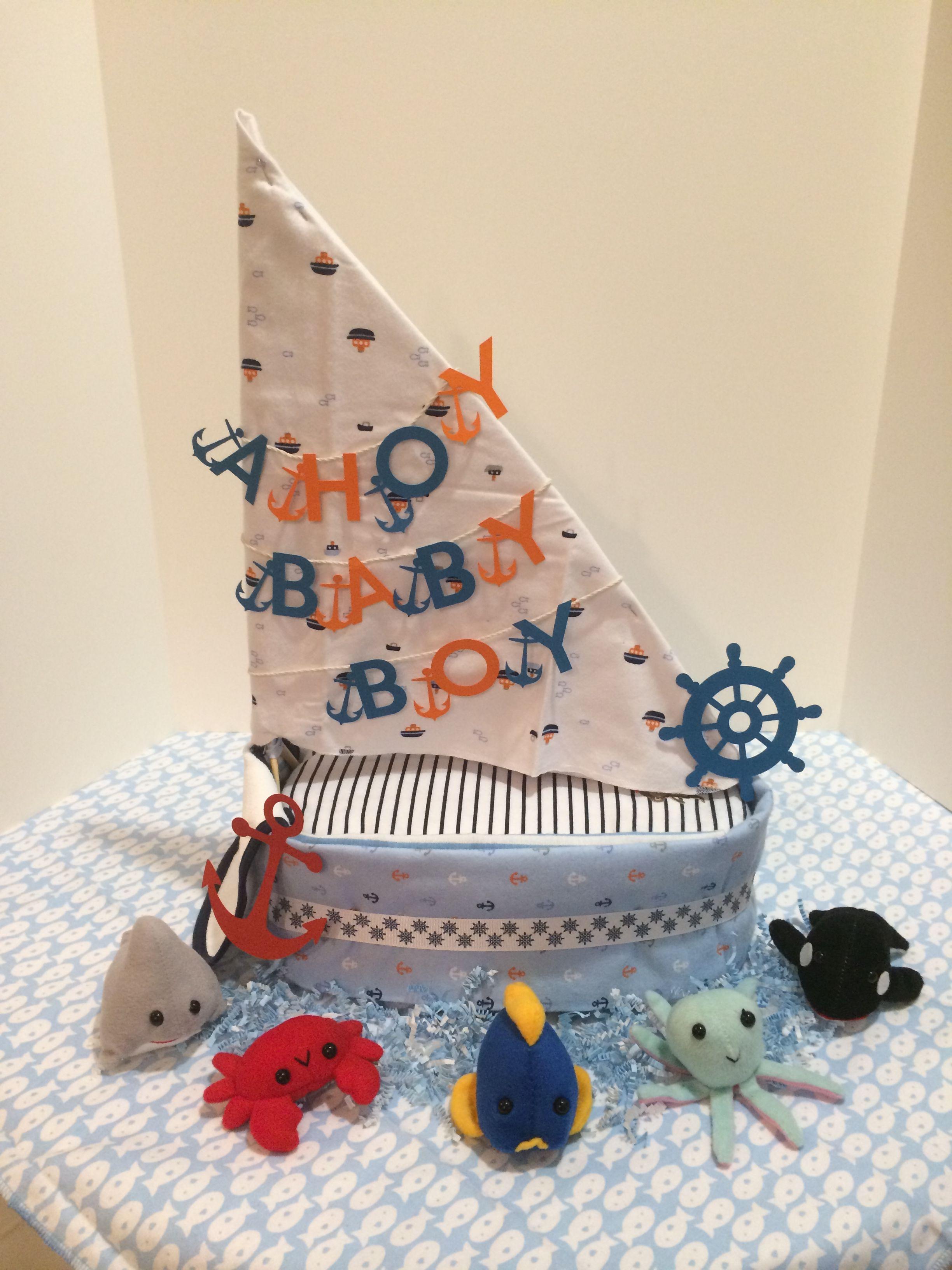 Baby Shower Ideas Gifts Diaper Sailboat  Nautical Httpphenixdesignswixcomhome #
